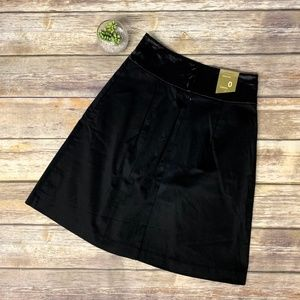 NWT Old Navy Black High Rise Sateen A-Line Skirt